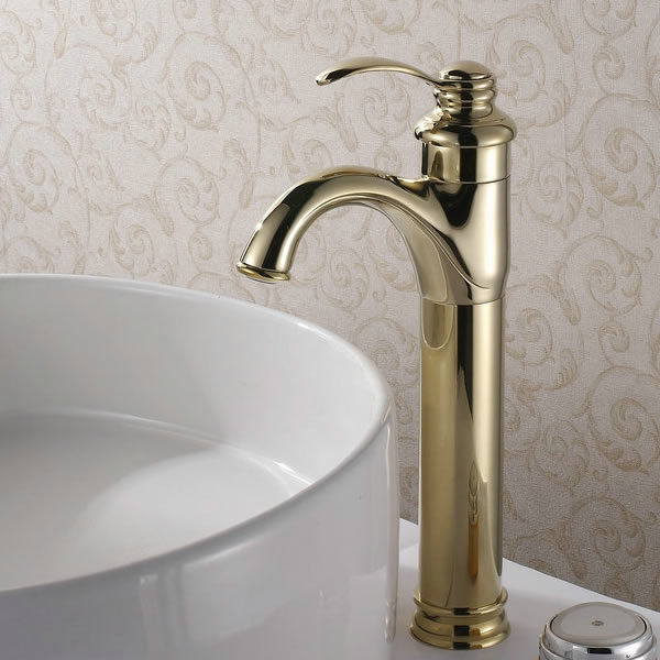 Classic Solid Brass Bathroom Sink Tap (Ti-PVD Finish) T0426G