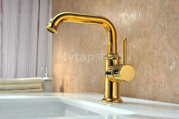 Antique Brass Finish Bathroom Sink Tap (Tall) T0415H [T0415H ...
