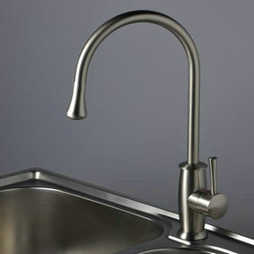 Nickel Brushed Single Handle Kitchen Tap T1702S