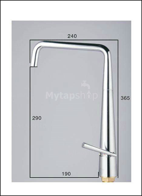 stainless steel contemporary adjustable kitchen tap (chrome finish