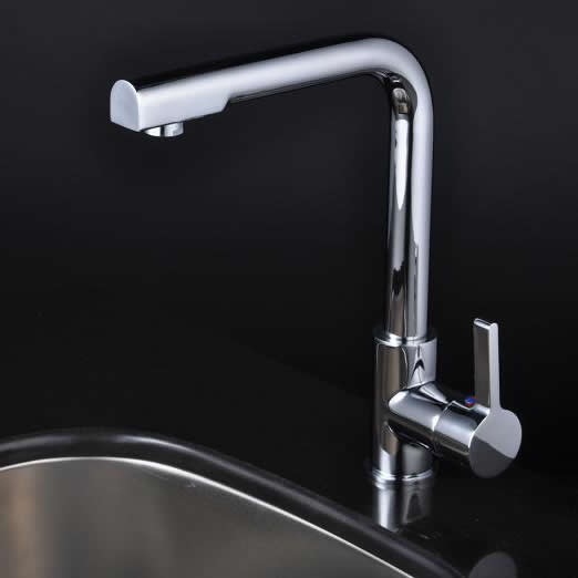 Chrome Single Handle Centerset kitchen tap T1720