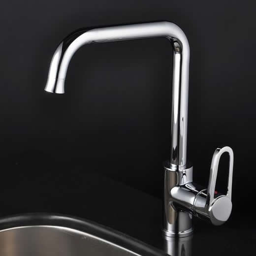 Chrome Single Handle Centerset kitchen tap T1721