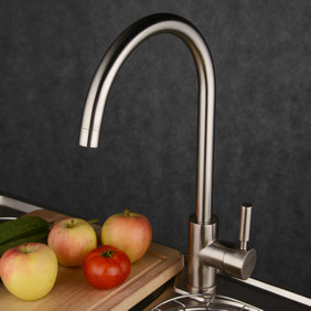 Contemporary Single Handle Brass Kitchen Tap T1729N