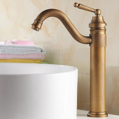 Classic solid brass bathroom sink tap antique copper finish t0519b t0519b - Robinet salle de bain led ...