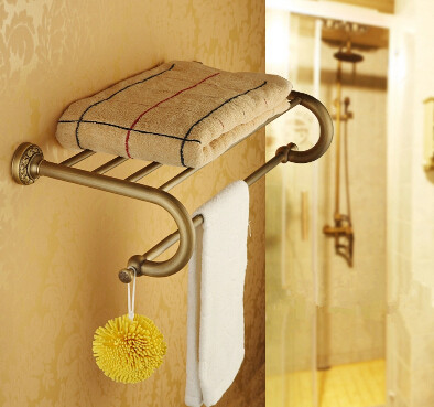 Antique Brass Towel Rack European Style Bathroom Accessory Towel Bar TA704T