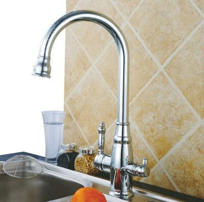 Three Flow Kitchen tap with pure water RO Tap T3001