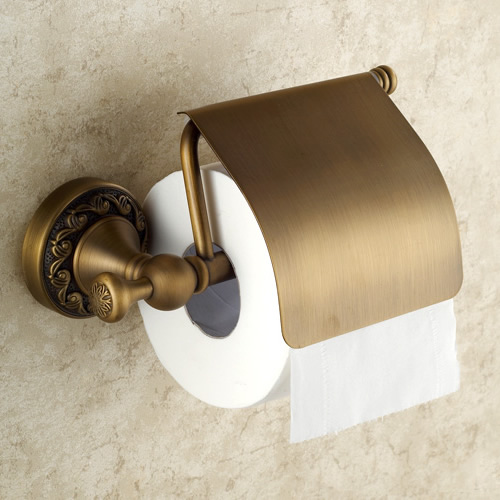 Antique brass finish wall mounted toilet roll holder Antique toilet roll holders