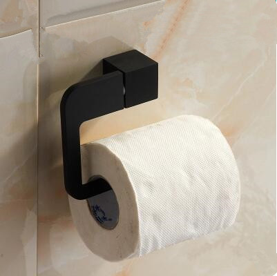 black rubber paint square bathroom accessory toilet roll holder bg055b