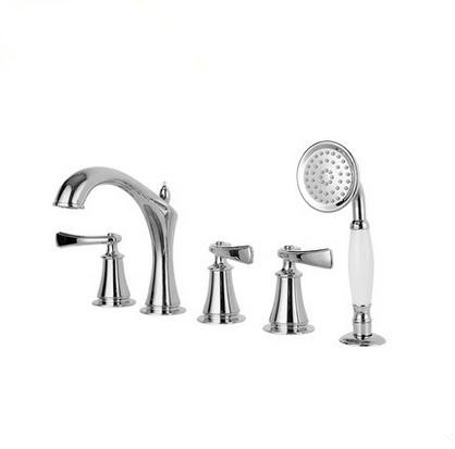 New Arrival Classic Designed Chrome Widespread Tub Tap with Hand Shower BT2279