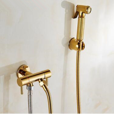 Antique Golden Bidet Tap Brass Pressurize Hand Shower Bathroom Tap DB146