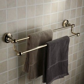 Antique Brass Ti-PVD Wall-mounted Double Towel Bar TGB1003