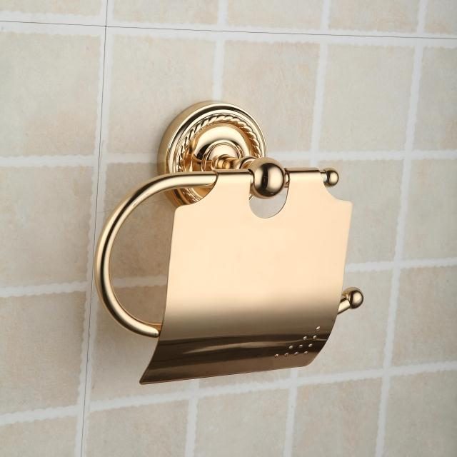 Antique Brass Ti-PVD Wall-mounted Toilet Roll Holder TGB2002