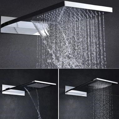 International Standard 304 Stainless Steel Rainfall Rectangle Shower Head HB53B
