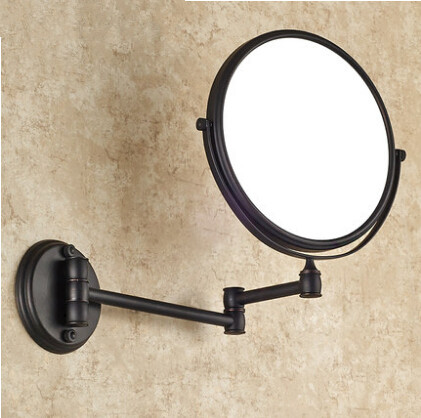 Bronze Beauty mirror bathroom mirror-sided retractable magnifying glass wall MB003