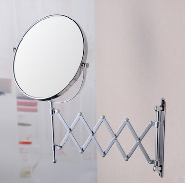 Chrome Finished Folding Wall Mounted Hotels&Home Bathroom Mirrors MB053