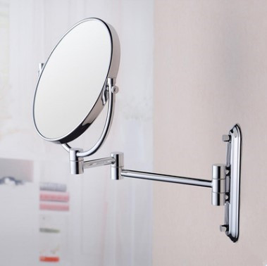 Brass Finished Wall Mounted Two Sides Magnifying Bathroom Mirror MB075