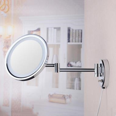 8 Inch Chrome Two Sides Wall Mounted LED Bathroom Make Up Mirrors MB168