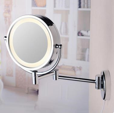 8 Inch Chrome Wall Mounted LED Bathroom Make Up Mirrors MB185