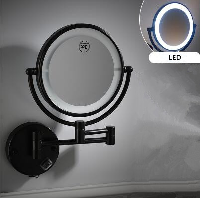 8 Inch Chrome Wall Mounted Led Bathroom Make Up Mirrors