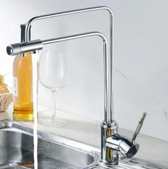 Contemporary Brass Water Filter Kitchen Multifunction Three Way Tap PH9408