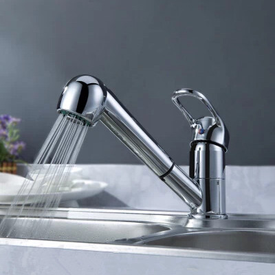 Simple Design Hot and Cold Kitchen Brass Pull Out Tap RF7041