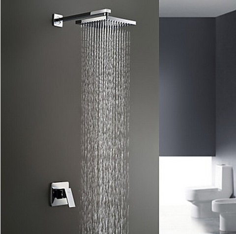 Chrome Wall Mount Rain Single Handle Shower Tap TSC031