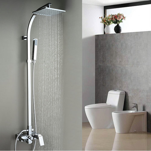 Contemporary Tub Shower Tap with 8 inch Shower Head + Hand Shower TSC033