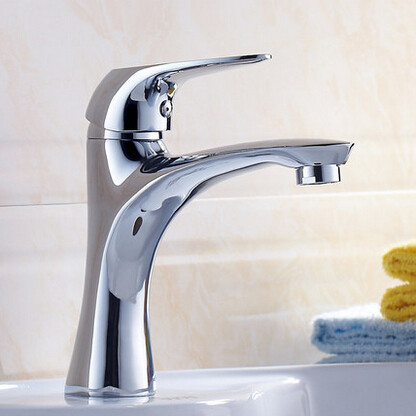 All Brass Bathroom Mixer Water Sink Tap One Hole Single Handle Tap T0094