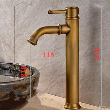 Antique New Arrival Brass Bathroom Mixer Water Sink Tap T0158Z