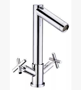 Chrome High Quality Traditional Mixer Bathroom Sink Tap Two Handles One Hole Basin Tap T0178L