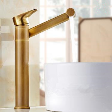 Antique Brass 360° Rotatable Universal Rotation Outlet Bathroom Sink Tap T0199R