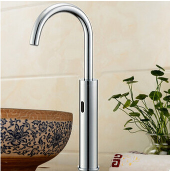Automatic Brass Bathroom Sink Tap Free Hands Tap High Type T0260