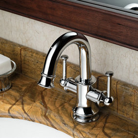 Contemporary Solid Brass Bathroom Sink Tap - Chrome Finish T0559