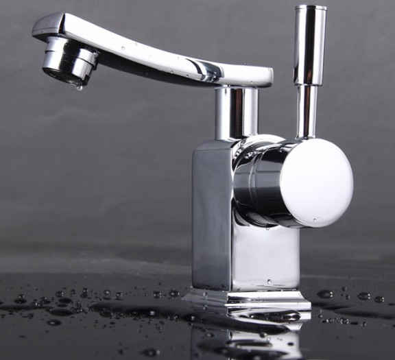 Chrome Finish Solid Brass Bathroom Sink Tap T0604