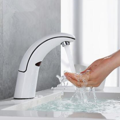 Full-automatic Intelligence Mixer Water White Designed Free Hands Bathroom Sink Tap T1468V