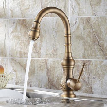 Antique Brass Kitchen tap (Antique Copper Finish) T-1705A