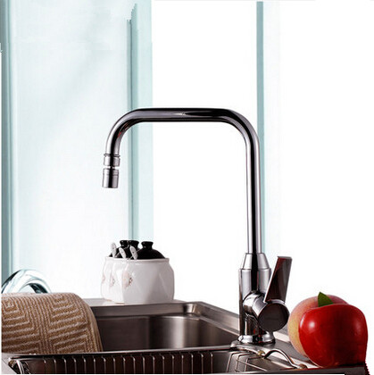 Brass Kitchen Basin Tap Rotatable Mixer Universal Spout Tap T236WH