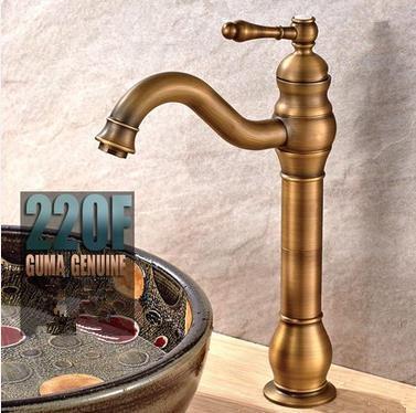 Antique Brass High Version Mixer Bathroom Sink Tap TA0199F [TA0199F ...