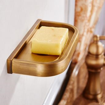Antique Brass Bathroom Accessory Soap Holder High TA084S