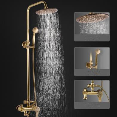 Luxurious Antique Brass Pressurize 360° Rotatable Shower Head Bathroom Shower Set TA1700C