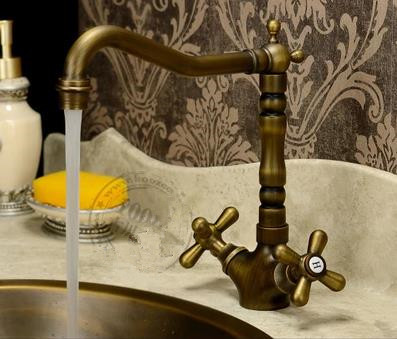 Antique Brass Brushed Rotatable Kitchen & Bathroom Sink Tap TA2792