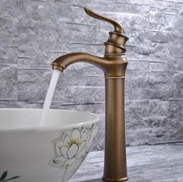 New Designed Antique Brass Bathroom Sink Tap Mixer Tap Ta368b