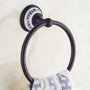 Brass Black Bronze Country Style Bathroom Towel Ring High Quality Accessory TAB06T