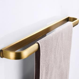 Antique Brass Wall-mounted Single Towel Bar TAB1005