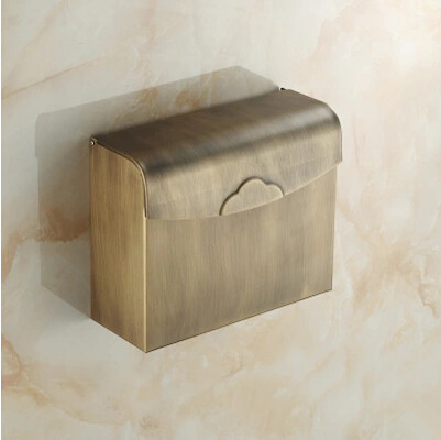 Antique Brass Bathroom Toilet Paper Box Holder TAB1382