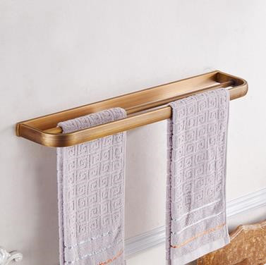 Antique Brass Bathroom Accessory Towel Double Bar TAC070