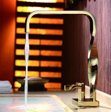 Art Design New Arrival Golden Printed Mixer Bathroom Sink Tap TB640G