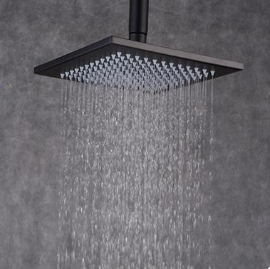 Antique Black Bronze Brass 8 Inch Square Rainfall Shower Head TBS108