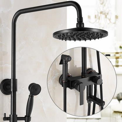Antique New Designed Black Bronze Brass Bathroom Shower Set With Bidet Tap TBS1198