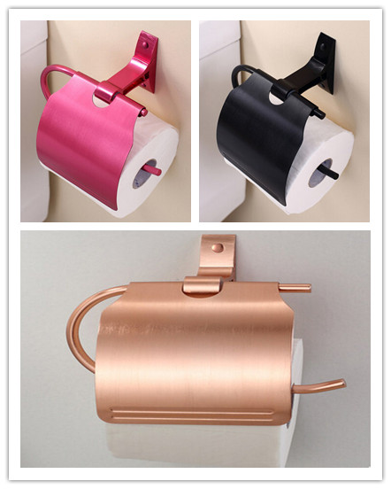 New Arrival 3 Colors To Choose Brushed Space Aluminum Toilet Roll Holder TC0895